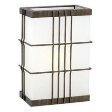 Eglo 20638A - 1x22W outdoor Wall Light w/ rustic Bronze Finish & White Glass
