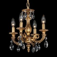Schonbek 5660-23O - Milano 4 Light 110V Chandelier in Etruscan Gold with Clear Optic Crystal