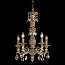 Schonbek 5665-22O - Milano 5 Light 110V Chandelier in Heirloom Gold with Clear Optic Crystal