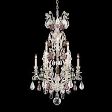 Schonbek 3580-26AD - Renaissance Rock Crystal 10 Light 110V Chandelier in French Gold with Amethyst And Black Diamond Roc