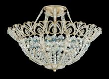 Schonbek 9843-48 - Tiara 9 Light 110V Close to Ceiling in Antique Silver with Clear Spectra Crystal