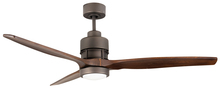 "Craftmade SON52ESP-52WAL - Sonnet 52"" Ceiling Fan Kit with LED Light in Espresso"