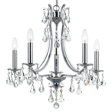 Crystorama 5935-CH-CL-S - Crystorama Cedar 5 Light Swarovski Polished Chrome Mini Chandelier