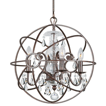 Crystorama 9025-EB-CL-S - Crystorama Solaris 4 Light Clear Swarovski Strass Crystal Bronze Mini Chandelier