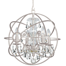 Crystorama 9025-OS-CL-S - Crystorama Solaris 4 Light Clear Crystal Silver Mini Chandelier