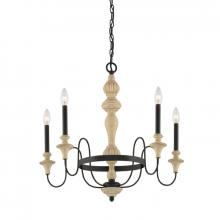 Quoizel ELM5005SEC - Five Light Sand Bisque And Earth Black Combina Up Chandelier