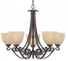 Thomas 190049722 - Melody 5-light Chandelier in Sable Bronze finish