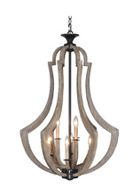 Jeremiah 35139-WP - Winton 9 Light Foyer in Weathered Pine/Bronze