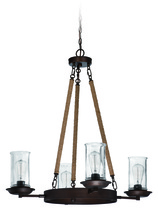Jeremiah 36124-ABZ - 4 Light Up/Down Chandelier